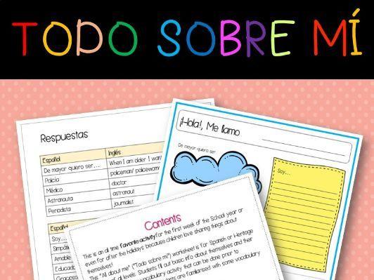 All about me (Spanish) - Todo sobre mi (Español), Back to School!