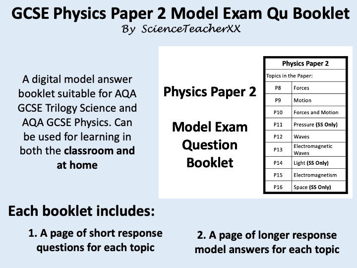 AQA GCSE Physics Paper 2 Revision Booklet