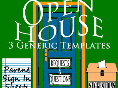 Open House Sign In Sheets >3 EDITABLE Word Doc Templates~Simple Easy Time Saver!