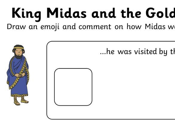 King Midas and the Golden Touch Emoji writing frame
