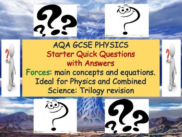 AQA GCSE FORCES QUICK QUESTIONS/ANSWERS