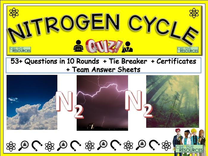 Nitrogen Cycle Science Quiz