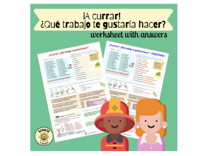 ¡A currar! ¿Qué trabajo te gustaría hacer? Punto de Partida. Spanish GCSE world of work. Answers
