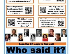 Who Said It? Famous African American Quotes QR Code Poster