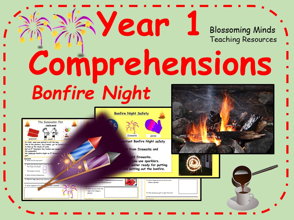 Year 1 comprehensions - Bonfire Night (Fireworks/Guy Fawkes)