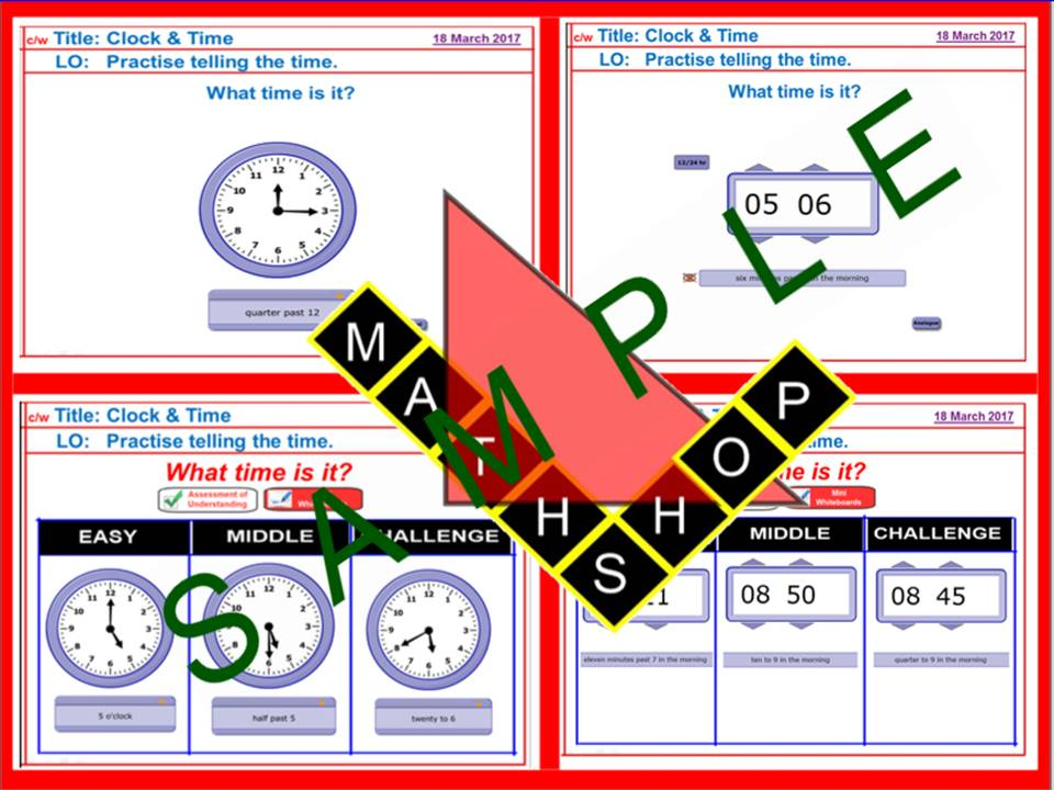 Reading the Time / Clock (Analogue and Digital)