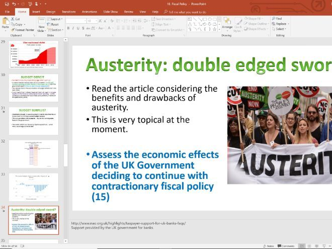 18. Fiscal Policy (Slides, Activities and Notes) - Edexcel A-Level Economics - Theme 2