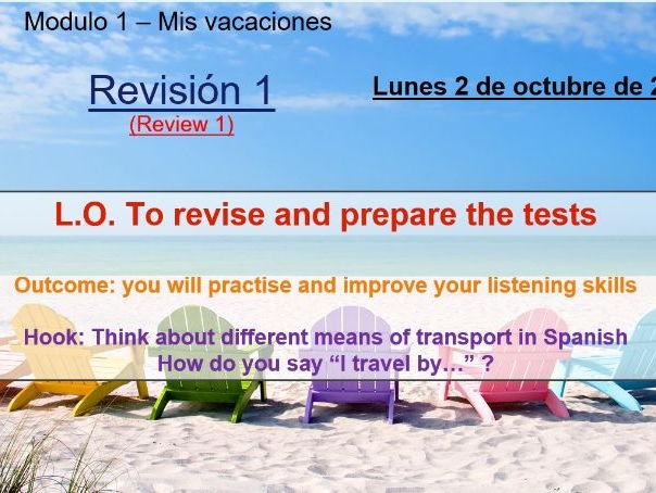 Viva 2 Mis vacaciones unit 1 revision