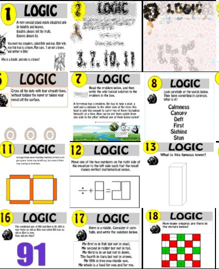 18 resource Logic Puzzle Bundle!! 1-18