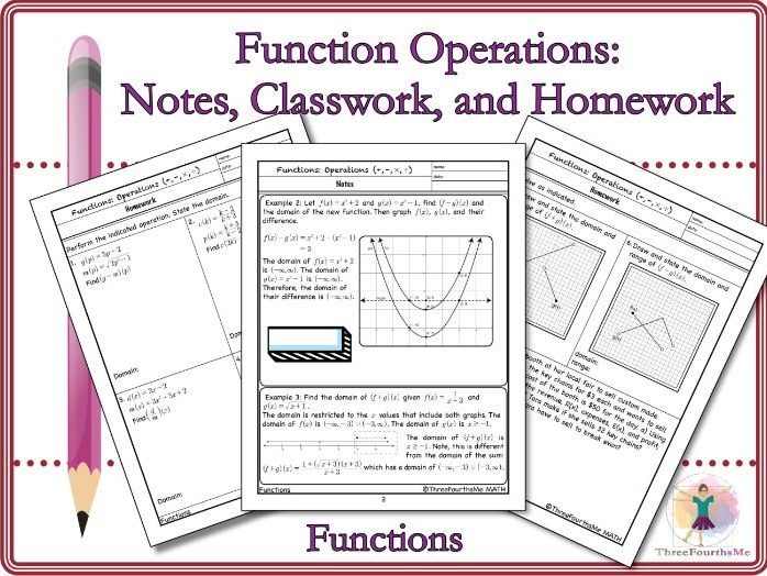 Function Operations: Notes, Classwork, and Homework