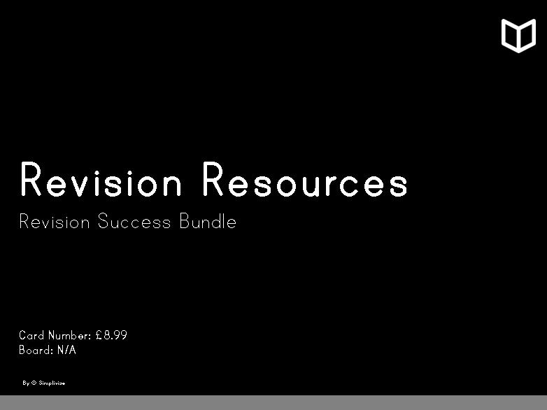 Revision Resources I  Collection Bundle