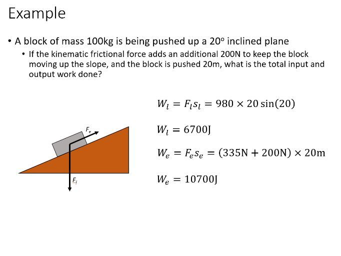 BTec Engineering - Efficiency and Mechanical Advantage (PowerPoint)