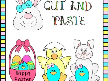 Cut and Paste Easter Craft