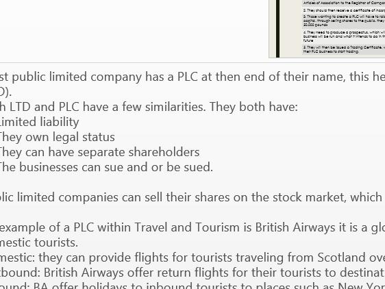 UNIT CODE D/600/9480 UNIT 2 BTEC THE BUSINESS OF TRAVEL AND TOURISM P1