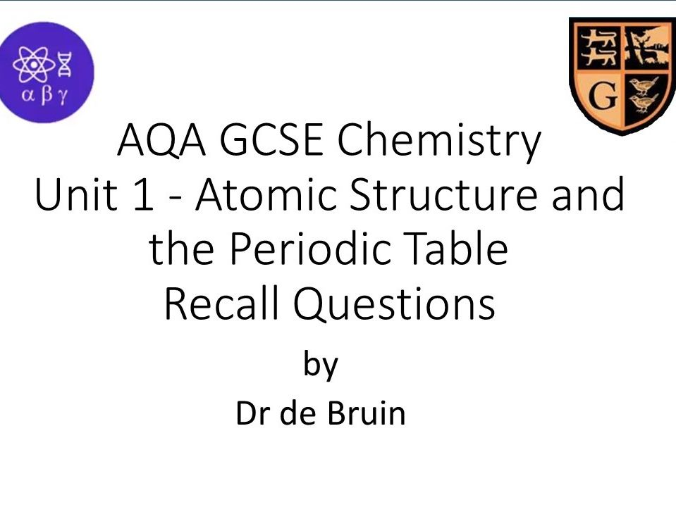 Atomic Structure Factual Recall Questions for AQA GCSE