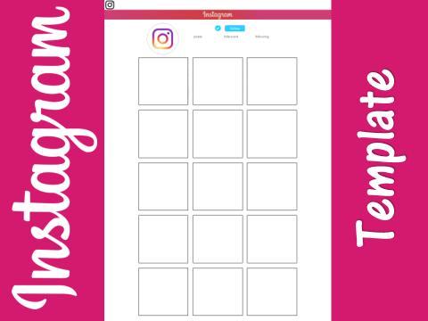instagram template worksheet homework by j leemosley teaching resources tes. Black Bedroom Furniture Sets. Home Design Ideas