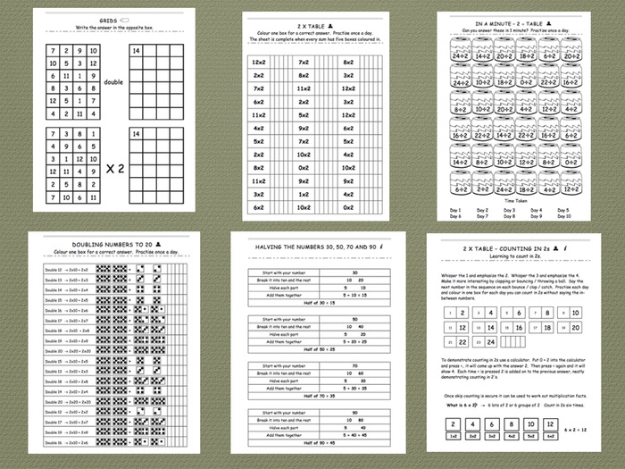 Two Times Table - Comprehensive Workbook