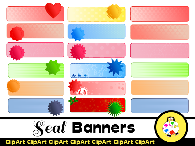 Clip Art Seal Banner Pack