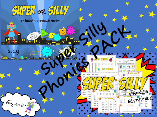 Super Silly Words Phonics PACK - Phonics Screen Preparation Aid