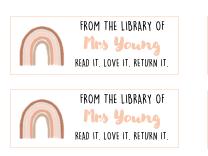 Teacher book labels