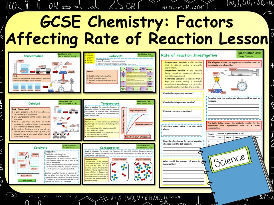 KS4 AQA GCSE Chemistry (Science) Factors Affecting Rate of Reaction Lesson
