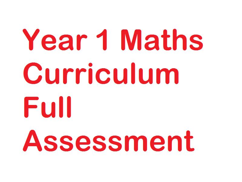 End of Year 1/ Beginning of Year 2 Maths Full Curriculum Assessment