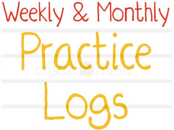 Music Practice Chart - Weekly & Monthly Printables