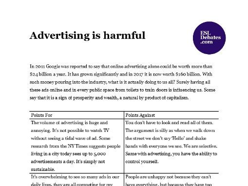 is advertising harmful