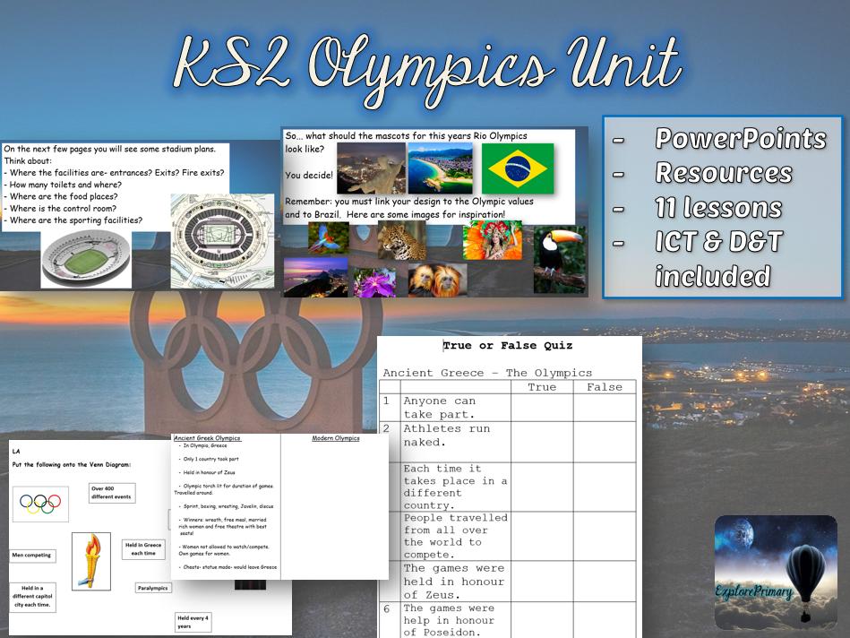 KS2 Olympics Unit - 11 lessons