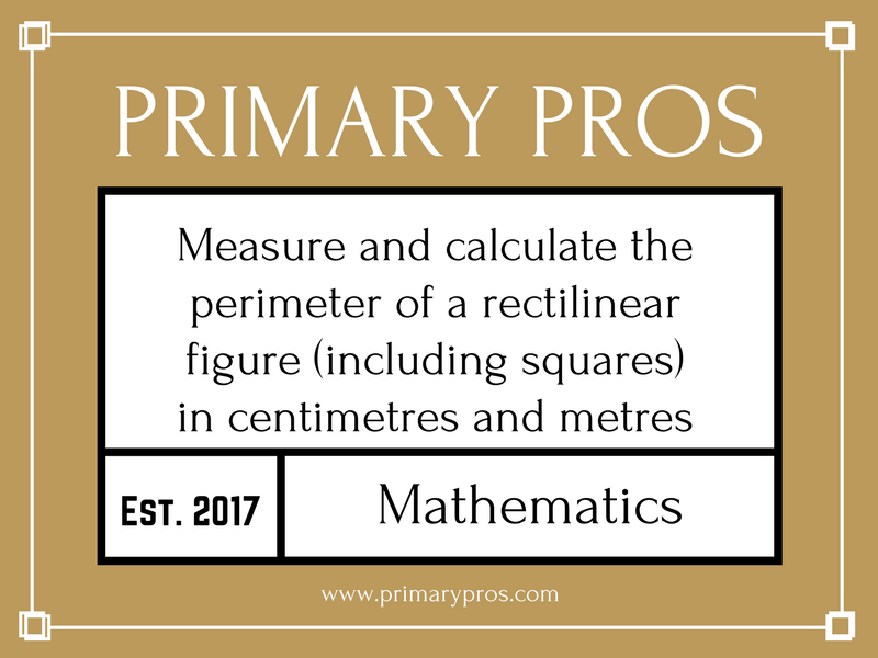 Measure and calculate the perimeter of a rectilinear figure (including squares) in centimetres and m