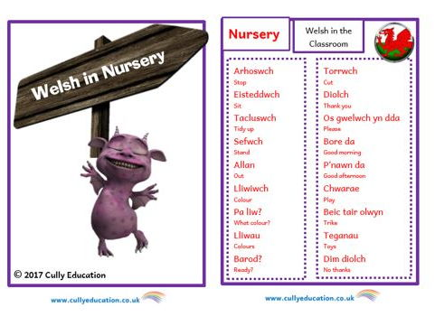 Incidental Welsh Booklet for the Nursery Classroom
