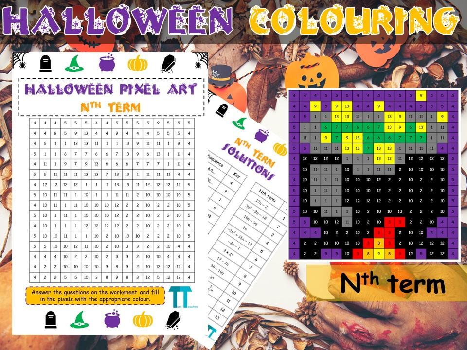 Halloween maths GCSE revision on nth term