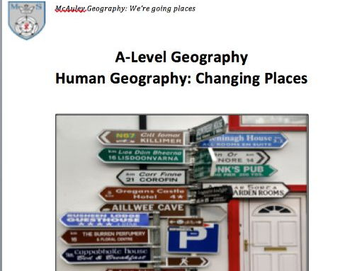 AQA Changing Places Work Booklet Lesson 1