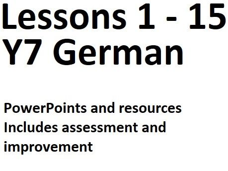 BUNDLE Y7 German Lessons 1 to 15 - Complete Lessons for Basics
