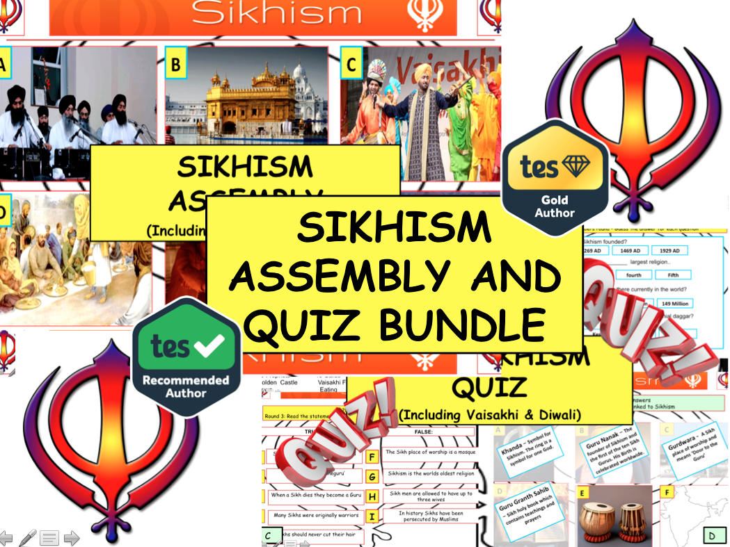 Sikhism Assembly and Sikhism Quiz (including Vaisakhi & Diwali)