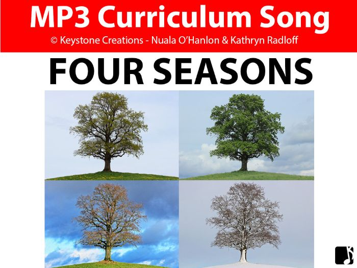 'FOUR SEASONS' (Grades Pre K-3) ~ Curriculum Song & Lesson Materials