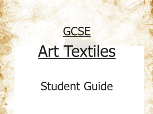 GCSE Art Textiles Student Guidebook