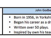 John Godber Handout Revision Guide Factsheet