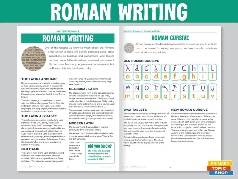 Ancient Romans - Roman Writing
