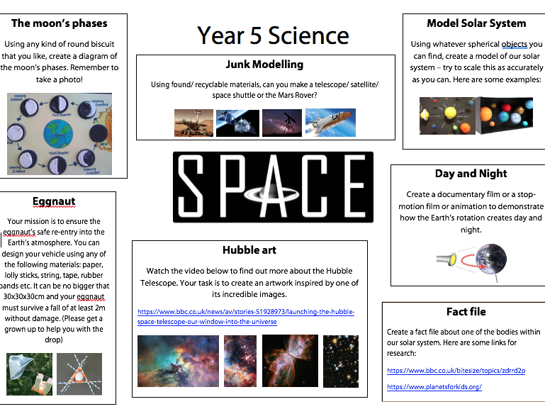 Year 5: Science - Space