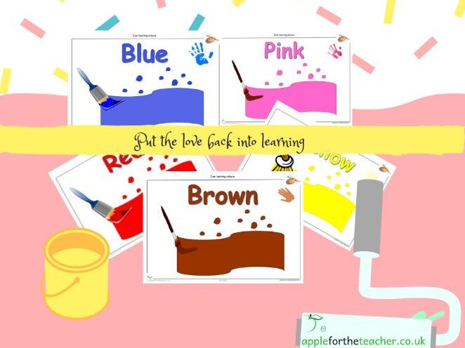 Colour Display Posters Paint Pot Theme (10 posters) EYFS SEN KS1