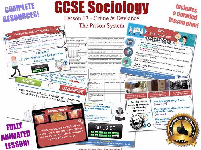 Prison, Punishment, Sentencing - Crime & Deviance L13/20 [ AQA GCSE Sociology - 8192] New Spec KS4