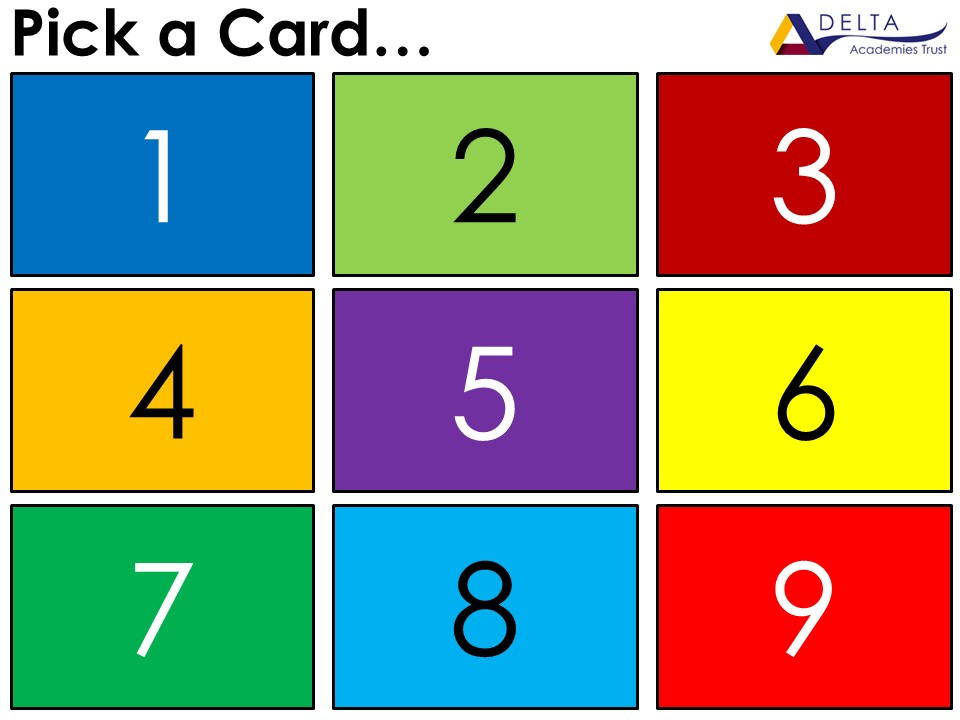 GCSE Maths Higher Pick a Card Revision
