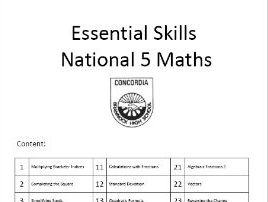 Essential Skills National 5 Mathematics