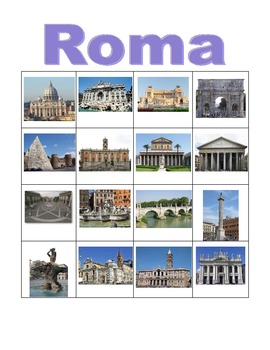 Rome Bingo and flashcards