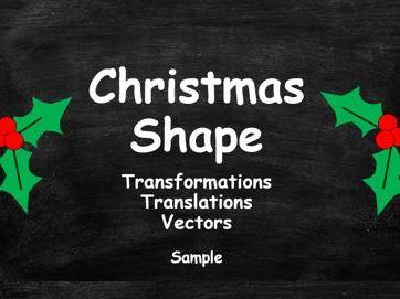 Christmas Shape. Transformations. Translations. Vectors. FREE SAMPLE