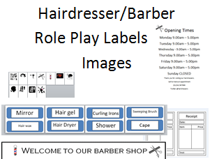 Hairdressers/Salon/Barbers Role Play Pack - Posters