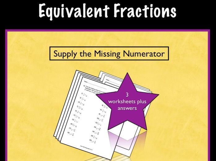 Equivalent Fractions KS2.  Differentiated Worksheets