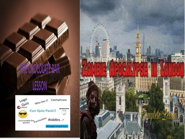 The Chocolate Bar Lesson + Zombie Apocalypse in London + Fun Quiz Pack