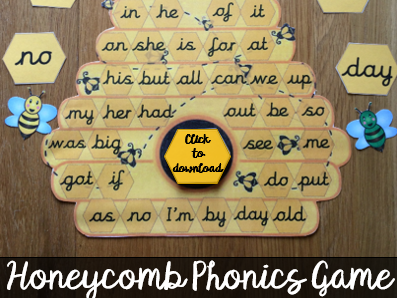 Phonics Honeycomb Game